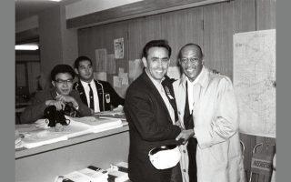 Με τον θρυλικό Τζέσε Οουενς στους Ολυμπιακούς του Τόκιο (1964).