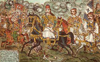 Θεόφιλος, Ο ήρωας Γεώργιος Καραϊσκάκης στη μάχη με τον Κιουταχή, 1928-1930.