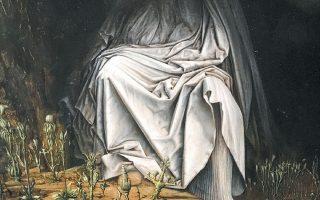 «Η Παρθένος των σκιών» (Vergine delle ombre, 2017), έργο του Ιταλού εικαστικού καλλιτέχνη Αγκοστίνο Αριβαμπένε (γενν. το 1967).