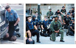 Οι δύο αντικρουόμενες όψεις των σημερινών Ηνωμένων Πολιτειών απεικονίζονται στις φωτογραφίες.