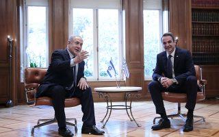 Προσπάθεια σύσφιγξης των ελληνοϊσραηλινών επιχειρηματικών και επενδυτικών σχέσεων θα λάβει χώρα στο πλαίσιο της επίσκεψης Μητσοτάκη στο Ισραήλ. Στη φωτογραφία, με τον Ισραηλινό πρωθυπουργό Μπέντζαμιν Νετανιάχου. (ΦΩΤ.INTIME NEWS)