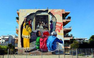 Τοιχογραφία του KLE, Πάτρα