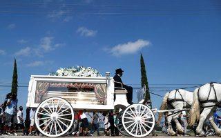 Στιγμιότυπο από την κηδεία του Τζορτζ Φλόιντ.