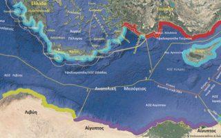 Ο χάρτης αποτυπώνει ποιες διεκδικήσεις μπορεί να έχει η Ελλάδα στην περιοχή της Ανατολικής Μεσογείου.
