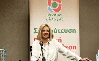 «Ο πρωθυπουργός δεν έχει λευκή επιταγή να χειρίζεται τα εθνικά μας θέματα», σημείωσε χθες η κ. Γεννηματά (φωτ. INTIME NEWS).