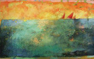 Εργο της Ειρήνης Κανά από την έκθεση «...ένα φιλί της θάλασσας της αφροστολισμένης».