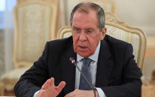 Ο Ρώσος υπουργός Εξωτερικών Σεργκέι Λαβρόφ (φωτ. EPA).