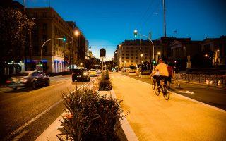 Η κυκλοφορία ποδηλάτων παραμένει σε χαμηλά επίπεδα, διότι η κουλτούρα χρήσης ποδηλάτου χρειάζεται και σημαντικά περισσότερο χρόνο και μεγαλύτερο δίκτυο (φωτ. ΑΠΕ-ΜΠΕ).