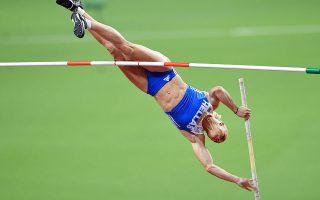 Η Νικόλ Κυριακοπούλου ήταν η νικήτρια στο επί κοντώ, αλλά δεν κατάφερε να βρεθεί στα ύψη που είχε ως στόχο. (Φωτ. INTIME NEWS)