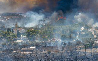 Η πυρκαγιά στα Κύθηρα εκδηλώθηκε το πρωί της 4ης Αυγούστου 2017.  Ο δήμαρχος του νησιού ζητεί τον ποινικό έλεγχο των πράξεων και παραλείψεων και προτείνει η μηνυτήρια αναφορά να συσχετιστεί με τη δικογραφία για την πυρκαγιά που βρίσκεται στην Εισαγγελία Γυθείου. (Φωτ. INTIME NEWS)