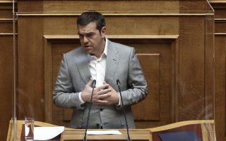 Ο Αλ. Τσίπρας επεσήμανε στον πρωθυπουργό ότι δεν ήταν πολιτική επιλογή η καταβολή των αναδρομικών στους συνταξιούχους, αλλά υποχρέωση. (Φωτ. INTIME NEWS)