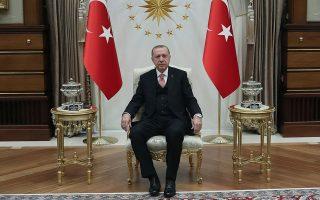 Ο Τούρκος πρόεδρος Ταγίπ Ερντογάν. Η Αγκυρα, βήμα βήμα, αναδεικνύεται σε υπολογίσιμο περιφερειακό παράγοντα.