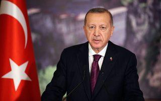 «Η Τουρκία δεν θα διστάσει να ασκήσει τα κυριαρχικά της δικαιώματα, όπως στην περίπτωση της Αγίας Σοφίας», δήλωσε ο Ρετζέπ Ταγίπ Ερντογάν (φωτ. A.P.).
