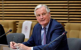 Ο επικεφαλής διαπραγματευτής της Ευρωπαϊκής Ενωσης για το Brexit, Μισέλ Μπαρνιέ (Φωτ. Reuters).