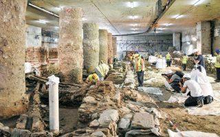 Το 2019, μετά τη θετική εισήγηση του Κεντρικού Αρχαιολογικού Συμβουλίου, το ΥΠΠΟ ενέκρινε την απόσπαση και επανατοποθέτηση των αρχαιοτήτων στον σταθμό Βενιζέλου του μετρό Θεσσαλονίκης. ΑΠΕ