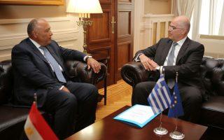 Φωτ. αρχείου από συνάντηση των υπουργών Εξωτερικών Ελλάδας και Αιγύπτου (ΙΝΤΙΜΕ)