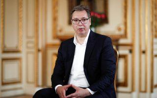 Φωτ. REUTERS: Τη Σερβία εκπροσώπησε ο πρόεδρος της Δημοκρατίας Αλεξάνταρ Βούτσιτς και το Κόσοβο ο πρωθυπουργός Αβντουλάχ Χότι.