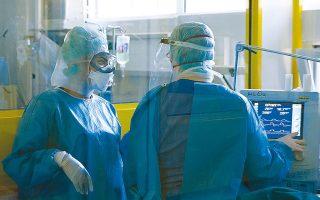 Τον πρώτο μήνα της πανδημίας νοσηλεύθηκαν σε ΜΕΘ του Ευαγγελισμού 36 ασθενείς, εκ των οποίων διασωληνώθηκαν 31 και απεβίωσαν 8 (υπερήλικοι με υποκείμενα νοσήματα). (φωτ. INTIME NEWS)