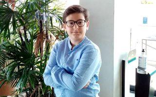 Ο 13χρονος Δημοσθένης – Δημήτριος Δεσποτίδης απέσπασε  το πρώτο βραβείο.