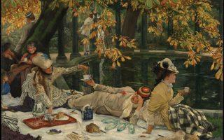 «Πικ νικ» (περ. 1876), έργο του Γάλλου ζωγράφου Ζακ Ζοζέφ Τισό στο Μουσείο Καλών Τεχνών Σαν Φρανσίσκο.