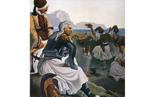 Ο Κολοκοτρώνης συγκεντρώνει στο στρατόπεδο της Λέρνας τους νικητές του Δράμαλη, του Peter von Hess. Πηγή: Εκθεση ΚΕΦίΜ