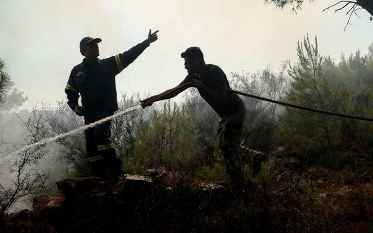 Από πεδίο βολής ξεκίνησε η μεγάλη φωτιά στο Λαύριο