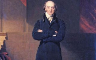 Ο Τζορτζ Κάνινγκ το 1825, στο πορτρέτο που ετοίμασε ο Thomas Lawrence με τη βοήθεια του Richard Evans (National Portrait Gallery, Λονδίνο).