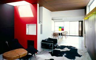Το σαλόνι και στο βάθος η τραπεζαρία. (Φωτογραφία: FLC-ADAGP - Albin Salaun)
