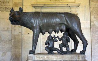 Ο Ρώμος και ο Ρωμύλος θηλάζουν τη λύκαινα, στο κλασικό γλυπτό στη Βασιλική της Ακουιλίας. Ο Πωλ Βεν δίδαξε ρωμαϊκή ιστορία σε όλη του τη ζωή.