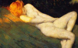 «Η γυμνή κοιμωμένη» (1910-1915) του Αμερικανού ζωγράφου και εικονογράφου Ουόρεν Μπ. Ντέιβις (1865-1928).