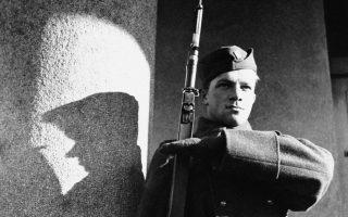 A young Ukrainian soldier on sentinel duty along the Carpatho-Ukraine border is shown, Jan. 27, 1939. (AP Photo)