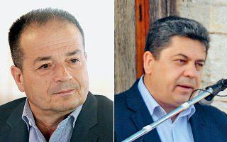 Αριστερά, ο δήμαρχος Λαμίας Ν. Σταυρογιάννης θα διεκδικήσει εκ νέου το αξίωμα. Ξανά υποψήφιος και ο δήμαρχος Αγράφων Θ. Μπαμπαλής (δεξιά).