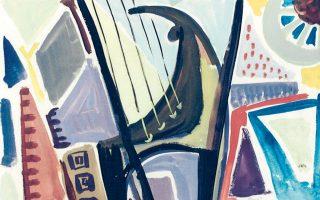 Αλεξ Μυλωνά, «Γυναίκα με άρπα», 1956 (λεπτομέρεια). Από την αναδρομική έκθεση (20 Φεβρουαρίου - 5 Μαΐου) προς τιμήν τηςμεγάλης εικαστικού στο ΜΟΜus - Μουσείο Αλεξ Μυλωνά, πλ. Ασωμάτων 5, Αθήνα.