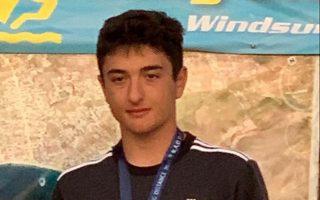 Ο 15χρονος μαθητής και αθλητής του γουίντ σερφ Ελευθέριος Μπακογιάννης.