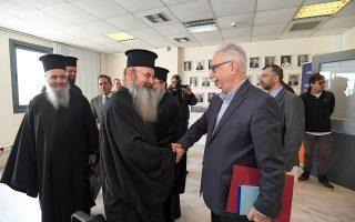 Ο υπουργός Παιδείας Κώστας Γαβρόγλου συναντήθηκε χθες με την επιτροπή διαλόγου της Διαρκούς Ιεράς Συνόδου.