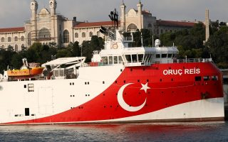 FILE PHOTO: Turkish seismic research vessel Oruc Reis is seen in Istanbul, Turkey, August 22, 2019. Picture taken August 22, 2019. REUTERS/Murad Sezer/File Photo