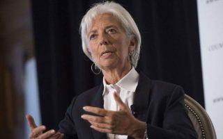 Η κ. Λαγκάρντ ανέφερε ότι οι τράπεζες αποκομίζουν διπλό όφελος: χρηματοδότηση της ΕΚΤ σε πολύ χαμηλά επιτόκια και κρατική εγγύηση.