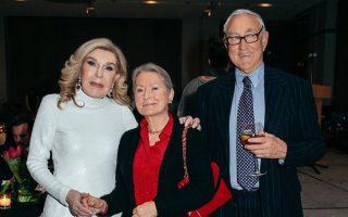 Μαριάννα Βαρδινογιάννη και Richard Jackson με τη σύζυγό του Eia.