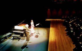 Η πιανίστρια Εφη Αγραφιώτη και η υψίφωνος Μυρσίνη Μαργαρίτη στην Εναλλακτική Σκηνή.