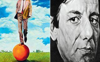 O Σκουλάκης λάτρεψε τη φιγούρα. Δεξιά, αυτοπροσωπογραφία του καλλιτέχνη.