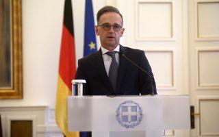 Ο υπουργός Εξωτερικών της Γερμανίας Χάικο Μάας, κατά την επίσκεψή του στην Αθήνα, θα συναντήσει εκτός από τον κ. Δένδια, τους κ. Μητσοτάκη και Τσίπρα. (Φωτ. INTIME NEWS)