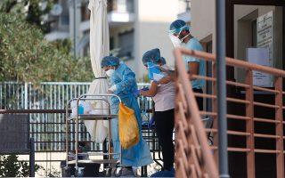 H «Εστία Παπαγεωργίου», στον Εύοσμο Θεσσαλονίκης, είναι το δεύτερο γηροκομείο που επλήγη από τον κορωνοϊό. Εως χθες το απόγευμα είχαν εντοπιστεί 22 επιβεβαιωμένα κρούσματα της νόσου, 15 σε ηλικιωμένους που φιλοξενούνται στη δομή και 7 σε εργαζομένους (φωτ. INTIME NEWS).