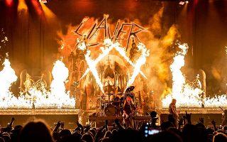 Φαντασμαγορικά σόου που περιλαμβάνουν και μπόλικη φωτιά, στήνουν στην τελευταία περιοδεία τους οι Slayer.