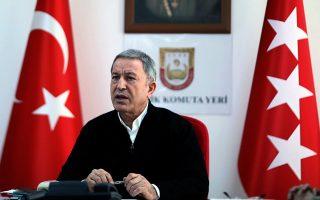 Ο υπουργός Εθνικής Αμυνας της Τουρκίας Χουλουσί Ακάρ δήλωσε για ακόμη μια φορά χθες ότι η χώρα του δεν θα συμβιβαστεί στην Κύπρο, στην Ανατολική Μεσόγειο και στο Αιγαίο.
