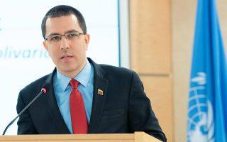 Ο υπουργός Εξωτερικών της Βενεζουέλας, Χόρχε Αρεάζα μιλά στο 40ο συνέδριο του Συμβουλίου Ανθρωπίνων Δικαιωμάτων του ΟΗΕ στην Γενεύη. (UN/Jean Marc Ferre/Handout via REUTERS)