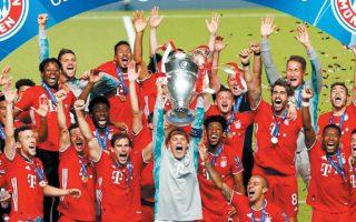 Η γερμανική ομάδα έπαιξε σύγχρονο, ολοκληρωτικό ποδόσφαιρο, επικράτησε 1-0 της Παρί και πανηγύρισε ακόμη έναν ευρωπαϊκό τίτλο. (Φωτ. REUTERS)