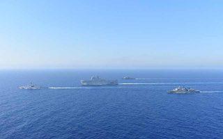 H κοινή άσκηση Ελλάδας - Γαλλίας στην Ανατολική Μεσόγειο, που ξεκίνησε την περασμένη Πέμπτη το πρωί, μόνο έκπληξη δεν αποτελεί, καθώς είναι περισσότερο το αποτέλεσμα μιας στενής διπλωματικής σχέσης που έγινε ακόμη στενότερη λόγω των στρατηγικών επιλογών τόσο του κ. Μακρόν όσο και του κ. Μητσοτάκη. Φωτ. ΙΝΤΙΜΕ ΝΕWS