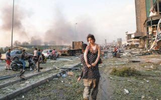Χιλιάδες είναι οι τραυματίες στη Βηρυτό. Η καταστροφή που προκάλεσε η έκρηξη εκτείνεται σε ακτίνα τριών χιλιομέτρων από τη μοιραία αποθήκη (φωτ. A.P. Photo/Hassan Ammar).