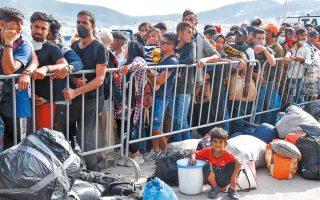 Από τις 5 Ιουνίου έως και τις 30 Ιουλίου έχουν αποχωρήσει από το νησί 4.444 αναγνωρισμένοι πρόσφυγες (φωτ. ΑΠΕ).