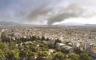 Μόλις η φωτιά κατασβεστεί εντελώς, θα κινηθεί η διαδικασία αποκατάστασης της περιβαλλοντικής ζημιάς (φωτ. INTIME NEWS).